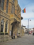 Rainbow Flag Flying over Hastings Town Hall