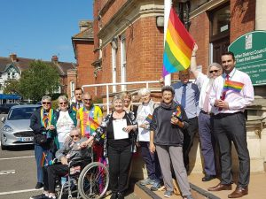 IDAHOBIT outside Bexhill Town Hall